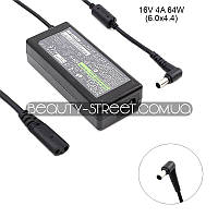 Блок питания для ноутбука Sony VAIO VGN TX670P/W, TX670P/WKIT1, TX690, TX690P/L 16V 4A 64W 6.0x4.4 (B)