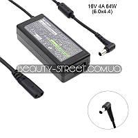 Блок питания для ноутбука Sony VAIO VGN TXN19P/L, TXN25N, TXN27N, TXN29N/L 16V 4A 64W 6.0x4.4 (B)