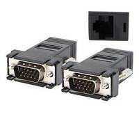 Адаптер/переходник VGA удлинитель по витой паре до 30м