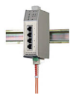 Промышленный коммутатор Microsens MS650462PM-48 (4x10/100Base-TX, 1x100Base-FX ST (SC), PoE)