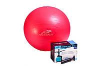 Мяч для фитнеса PowerPlay, фитбол + насос 55 см / 4001 / розовый