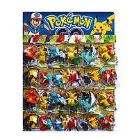 Игрушки-фигурки Pokemon. Герои мультфильма Покемон. Набор мини-фигурок Pokemon 67206, в наборе 48 шт.