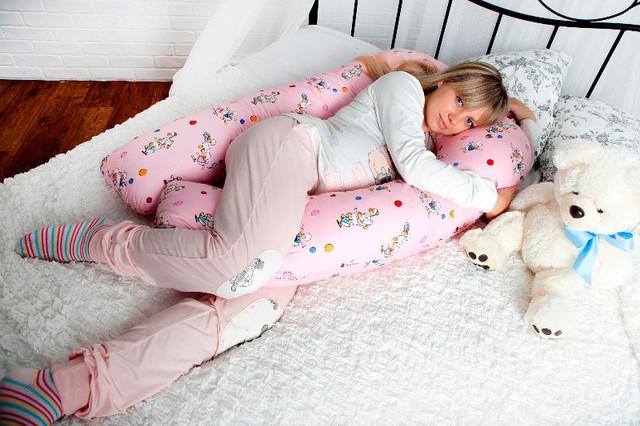 Подушки для беременных с цветной наволочкой