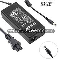 Блок питания для ноутбука Toshiba Portege M400, M405, M400-100, M400-120, M400-40 15V 5A 75W 6.3х3.0 (A)