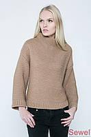 Вязаный женский теплый свитер