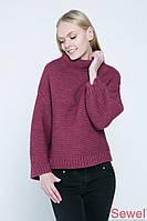 Вязаный женский зимний свитер