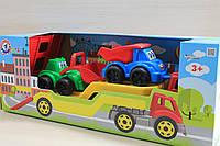 Автовоз с трактором, машинками подарочный набор машинок для мальчика тм Технок