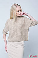 Женский вязаный свободный свитер