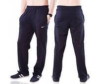 Спортивные брюки больших размеров Найк (Nike) мужские трикотажные темно синие баталы Украина