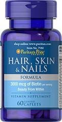 Puritans Pride Hair, Skin & Nails Formula 60caplets