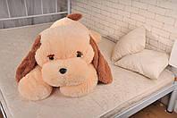 Большая игрушка Собака Тузик 140 см медовый 100 см, Персиковый