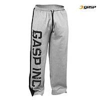 Спортивные брюки GASP Jersey Logo Pant, Grey Melange/Black