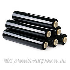 Стрейч пленка черная 20 мкм 500 мм 200 м (2.1 кг), фото 3