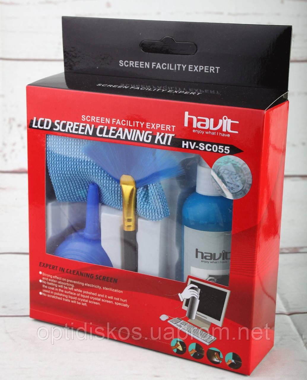Чистящий набор для TFT Havit HV-SC055 (салф.,гель, кисточка, груша)Нет в наличии