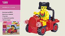 Конструктор для девочки Ausini 1205 Девочка на машине