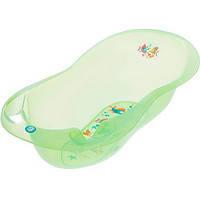 Детская ванночка Aqua Lux AQ-005 с градусником зеленая green