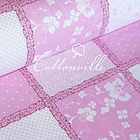 Бязь Пэчворк розовая