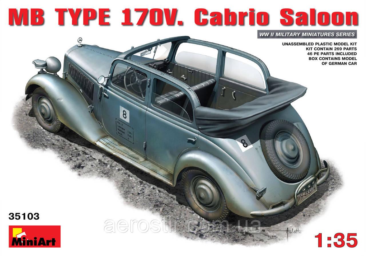 MB Type 170V Cabrio Saloon 1/35 MiniART 35103