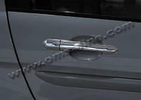 Hyundai Accent 2006-2010 гг. Накладки на ручки (4 шт) OmsaLine - Итальянская нержавейка