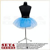 Голубая детская юбка Золушка новогодняя