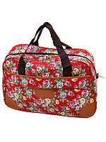 Женская дорожная сумка саквояж полиэстер dr.Bond 6601-1 red-2