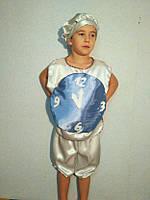 Карнавальный Детский новогодний костюм Часы  4-7 лет синий,серый, фото 1