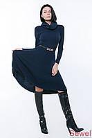 Модное вязаное платье клеш
