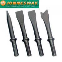 Комплект коротких зубил для пневматического молотка (JAH-6833H), 4 пр.