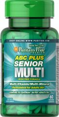 Puritans Pride ABC Plus Senior Multivitamin Multi-Mineral Formula 60caplets