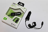 Автомобильная зарядка Grand MicroUsb + USB Black, фото 1