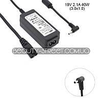 Блок питания для ноутбука Samsung NP530U3B-A02CA, NP530U3C-A01CA 19V 2.1A 40W  3.0x1.0 (B)