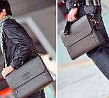 Каркасная мужская сумка-портфель Polo. Сумка портфель. Сумка ПОЛО. Стильная сумка. Модная сумка., фото 10