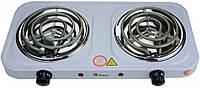Электрическая плита DOMOTEC, плита 2 конфорочная электрическая, электроплита настольная