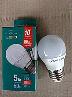LED лампа Titanum G45 5Вт Е27 4100К