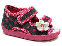 Тапочки (босоножки) для девочки Renbut розовые звезды