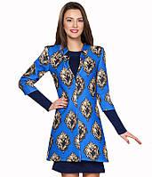 Пальто из неопрена синего цвета