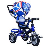 Велосипед детский трехколесный с поворотным сиденьем и надувными колесами
