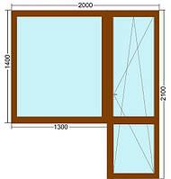 Балконный блок VEKA (Века), 5-камерный профиль, ламинация орех (возможны другие цвета), лучшая цена