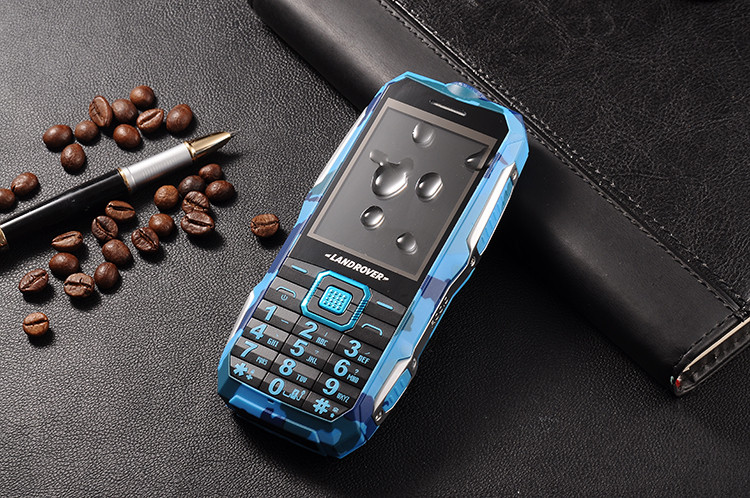 a6e046eaa602 Land Rover T8 Противоударный телефон с суппер усиленной батареей (АКБ 10800  мАч) синий камуфляж