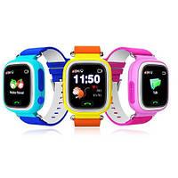 Wolnex Сенсорные детские умные часы оригинал с GPS Smart Baby Watch Q100 настройка и сим-карта в подарок