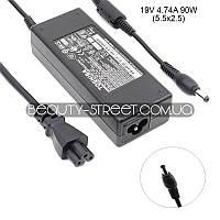 Блок питания для ноутбука Toshiba Satellite C850-12M, C850-132, C850-BT2N11 19V 4.74A 90W 5.5x2.5 (A+)