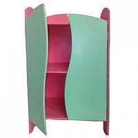 Шкафчик для кукол, цветной, Ш080