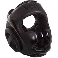 Оригинальный Боксерский шлем Venum Elite Headgear Black