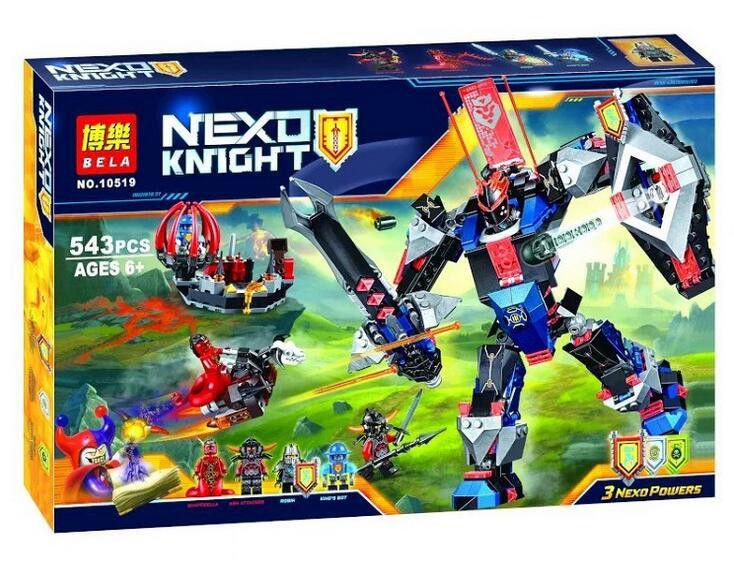 """Конструктор лего нексо Bela 10519 Nexo Knights """"Механический робот Чёрного рыцаря"""", 543 дет"""