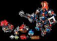 """Конструктор лего нексо Bela 10519 Nexo Knights """"Механический робот Чёрного рыцаря"""", 543 дет, фото 3"""
