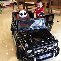 Детский электромобиль Mercedes Brabus M 2796 EBLRS-2: EVA, 2.4G, 8 км/ч, Кожа -Черный-купить оптом