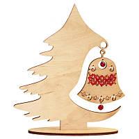 Новогоднее украшение из фанеры F-043. ПРАЗДНИЧНЫЙ ПЕРЕЗВОН