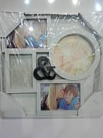 Фоторамка коллаж 4фото (10х15-2,13х18,15х20) бел 30v2-31