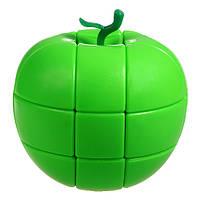 Яблоко 3х3 механическая головоломка зеленая