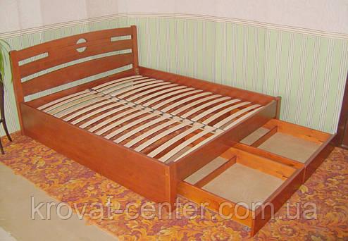 """Кровать с ящиками """"Сакура"""". Массив - сосна, ольха, береза, дуб., фото 2"""
